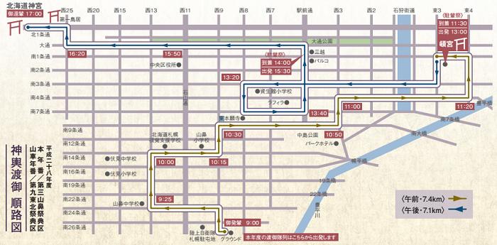 北海道神宮例祭神輿順路